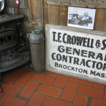 1928 General Contractors sign that was on his truck - Signs