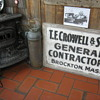 1928 General Contractors sign that was on his truck