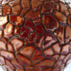 Red eosin crackled vase by Zsolnay