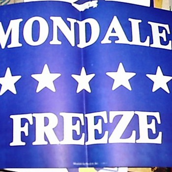 Walter Mondale '84 campaign sign - Posters and Prints
