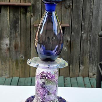 going green using recycled glass for birdbaths - Glassware