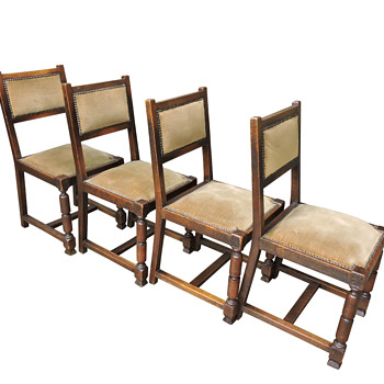 Four 'French' Antique Oak Side Chairs  - Furniture