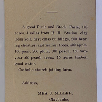 Farm For Sale - Paper