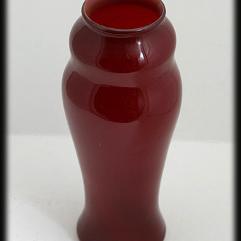 L.C. TIFFANY RED VASE - Art Glass