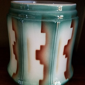 Art deco Czech Gebruder Mehner spritzdekor porcelain  - Art Deco