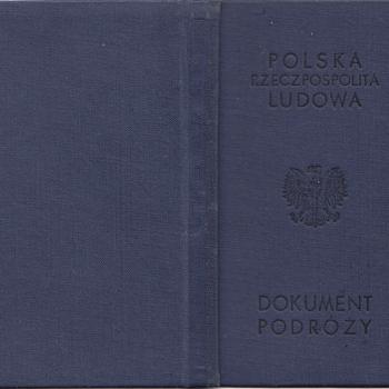 1959 Polish Travel Document - Paper