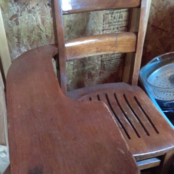 Wooden school desk - Furniture