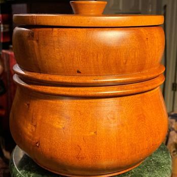 Turned Wood Humidor - Tobacciana