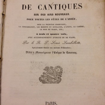 Choix DeCantiques Book - Books