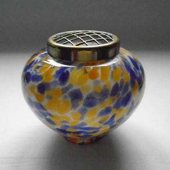 Welz Rose Bowl - Art Glass