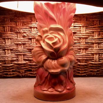 Ceramic Rose Lamp - Lamps