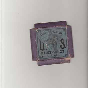Rare US Patriotic Mainspring Box