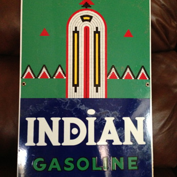 Indian Gasoline Pump Sign - Petroliana