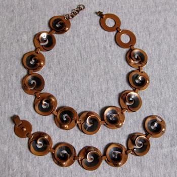 Renoir set - Korean War era - 1950-53  - Costume Jewelry