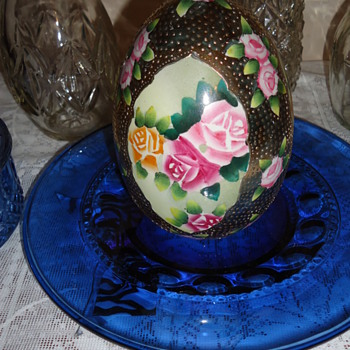 Nippon Hand Painted Egg - Asian