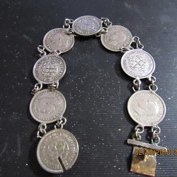 3 Pence Bracelet - Costume Jewelry