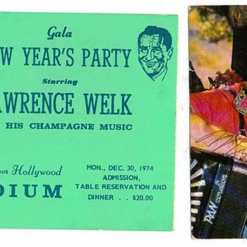 New Years 1974 / 1975 - Music Memorabilia
