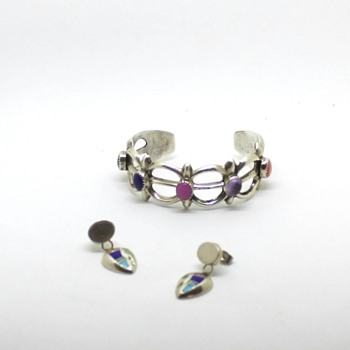 Native American Sandcast Cuff and earrings from Ms Valentino97 - Fine Jewelry