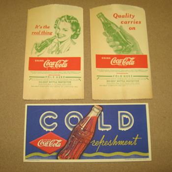 C-C Drip Protectors and Canadian Blotter - Coca-Cola