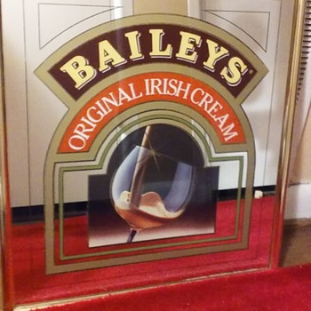 BAILEY'S ORIGINAL IRISH CREAM mirror - Advertising
