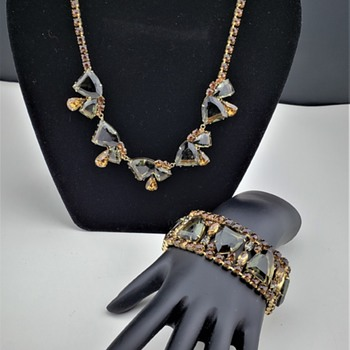 Marvella Demi Parure Rhinestone Set - Costume Jewelry