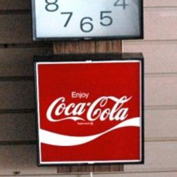 1975 Coca Cola Clock - Coca-Cola