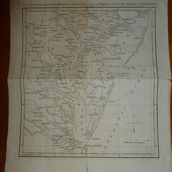 Early American Map - Paper