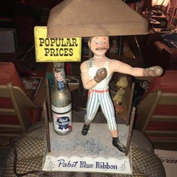 Pabst Blue Ribbon beer Boxer display  - Breweriana