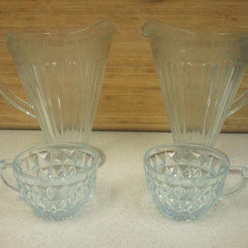 rare depression glass - Glassware