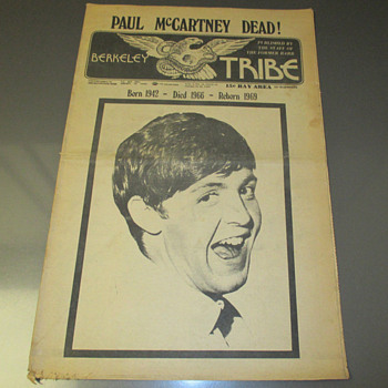 Berkeley Tribe Newspaper- October 24-30, 1969 - Music Memorabilia