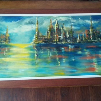 New painting I picked up.  Artist?  - Fine Art