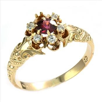 Lovely 14k Gold and ruby ring