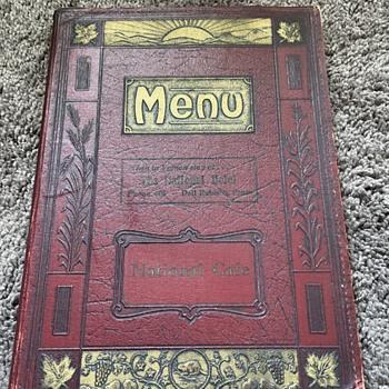 The National Hotel menu - Paper