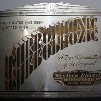 Mirrophonic sign - Art Deco