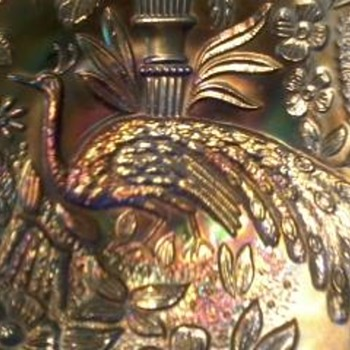 Peacock Carnival Glass