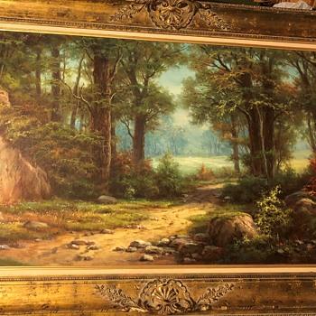 Forest Scene by Anton Gutknecht framed in Belgium - Fine Art