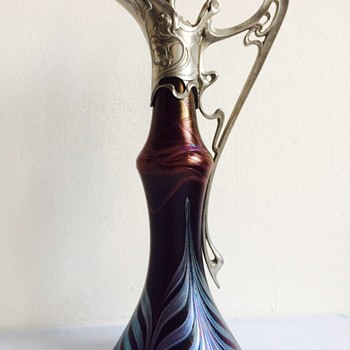 Mystery Art Nouveau Pitcher...Poschinger? - Art Glass