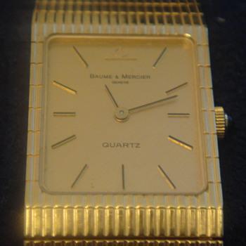 Vintage Baume & Mercier 14k Gold Men's Watch - Wristwatches