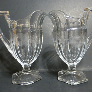 US Glass Company small pitchers - Glassware