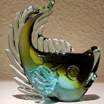 Flavio Poli Fish for Seguso Vetri D'Arte, Murano Italy - Art Glass