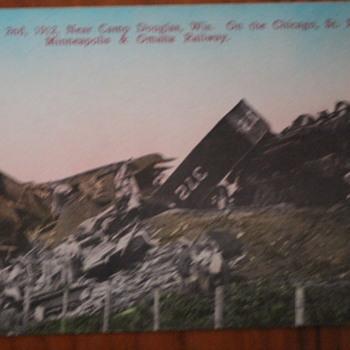 Train wreck 1912 Camp Douglas, Wisconsin