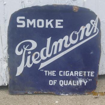 Piedmont Cigarette sign - Signs