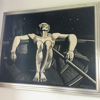 Rockwell Kent Painting - Starry Night - Fine Art