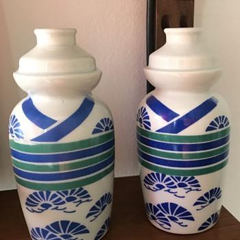 Two Sake bottles. - Asian