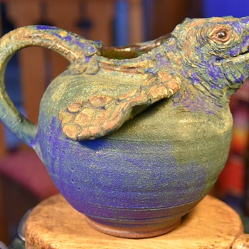 Extra Large Pitcher by CCP, 1996 - Sea Turtle - Diane Lee at Carolina Creations Pottery - Pottery