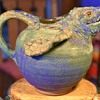 Extra Large Pitcher by CCP, 1996 - Sea Turtle - Diane Lee at Carolina Creations Pottery