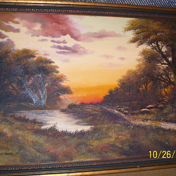 Joseph Adams Oil on Canvas - Fine Art