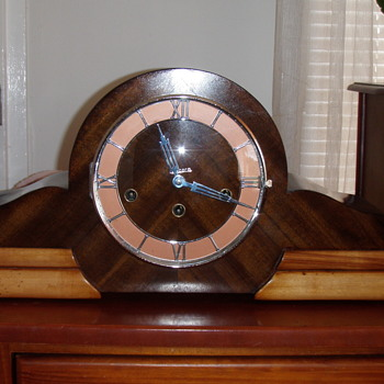Unicorn Art Deco Mantle Clock restored. - Clocks