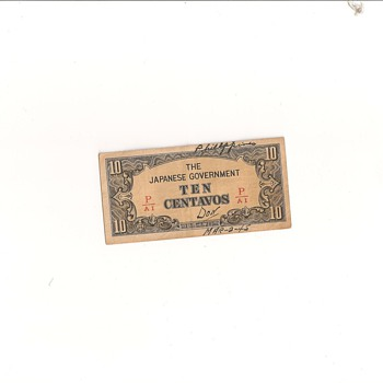 original currency from my scrapbook - Military and Wartime