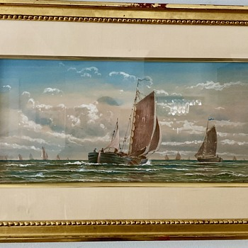 My Sister's Marine Painting is by Benjamin Champney - Fine Art